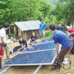 Singaporean Students Install Solar Power System at Primary School in Laos