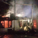 Fire Destroys Two-story House on Temple Grounds in Savannakhet