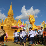 Stunning Wax Castle Procession Reflects Rich Lao Culture