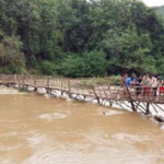 Temporary River Footbridge in Luang Prabang Sustains Damage