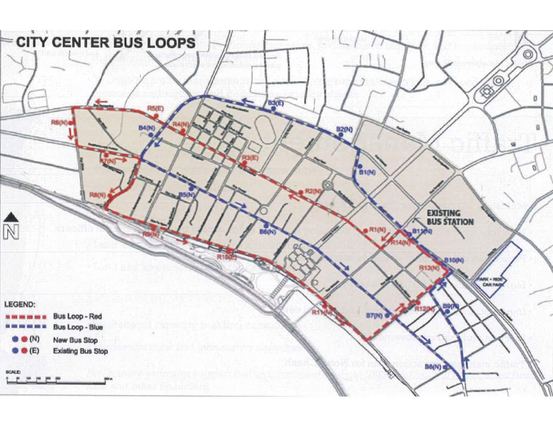 Planned Vientiane Bus Loops