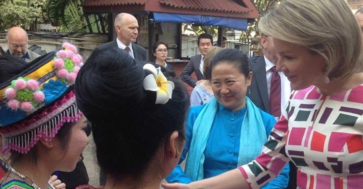 Queen Mathilde of Belgium Makes Official Visit to Laos