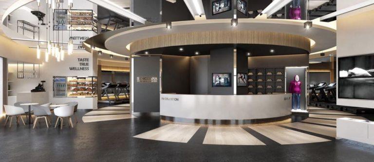 All New Reception Area at Sengdara Fitness Center Makeover