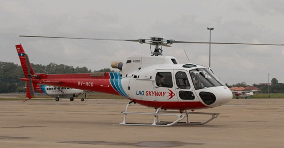 Private Airline Lao Skyway Adds Airbus Helicopter to Its Fleet