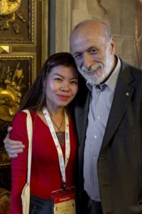 Noi with Carlo Petrini, president and founder of Slow Food
